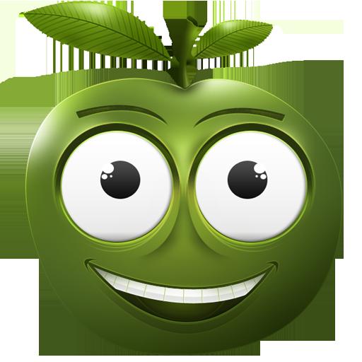 可爱图标表情图标下载_PNG苹果表情下载_绿包透动惑明情表疑图图片