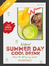 新鲜水果PSD宣传海报设计